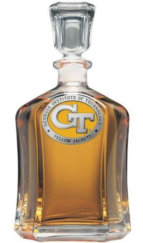"""Georgia Institute of Technology """"GT"""" Capitol Decanter - Enameled"""