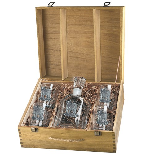 Tiger Capitol Decanter Set w/ Box