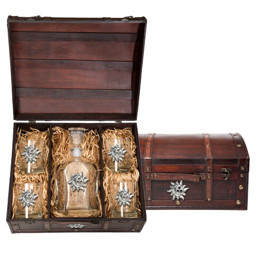 Celestial Capitol Decanter Set w/ Chest