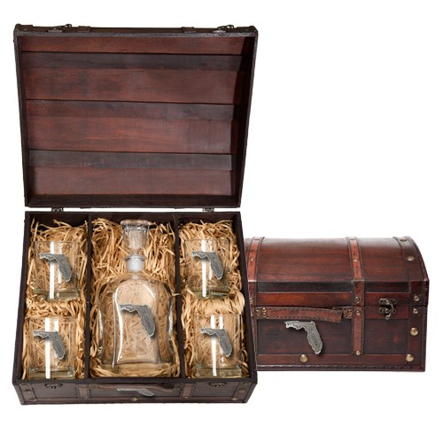 Florida Capitol Decanter Set w/ Chest