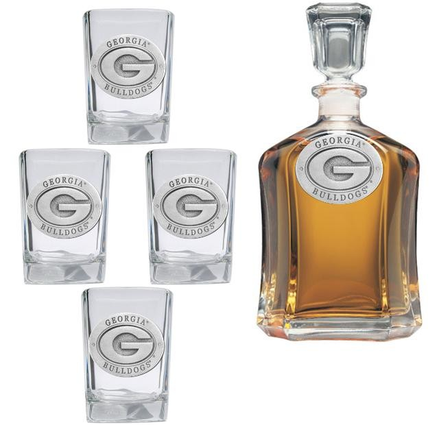 "University of Georgia ""G"" Capitol Decanter Set"