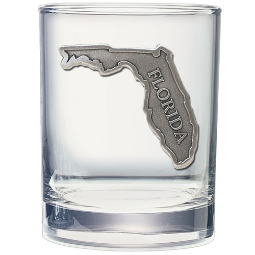 Florida Double Old Fashioned Glass