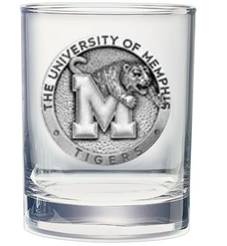 University of Memphis Double Old Fashioned Glass