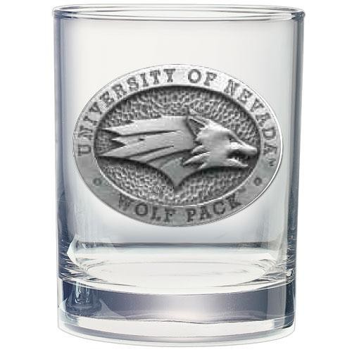 University of Nevada Double Old Fashioned Glass