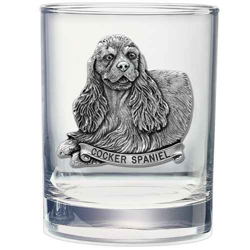 Cocker Spaniel Double Old Fashioned Glass