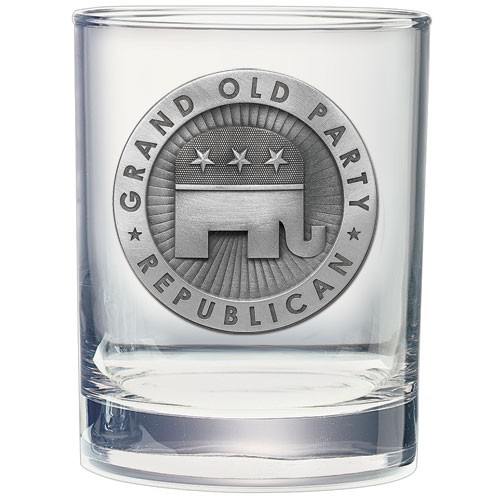 Republican Double Old Fashioned Glass