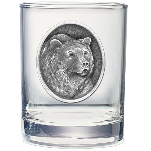 Grizzly Bear Double Old Fashioned Glass