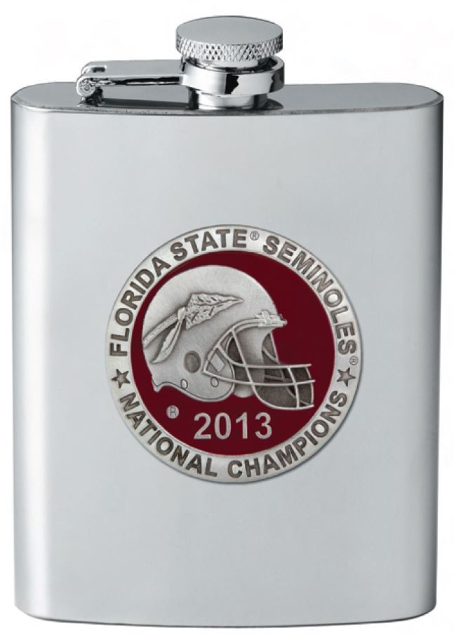 2013 BCS National Champions Florida State Seminoles Flask - Enameled