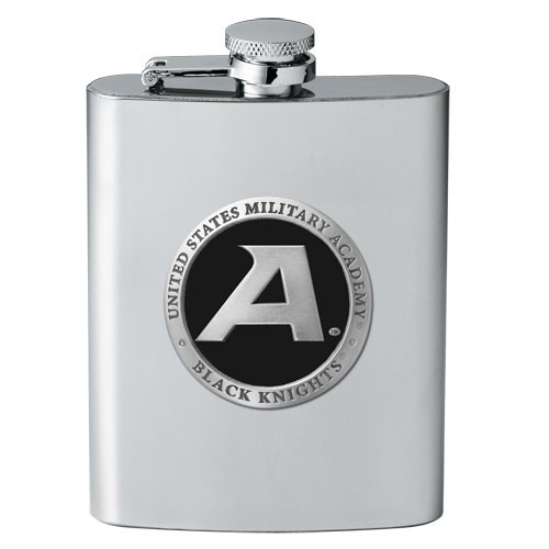 """Army """"Black Knight's"""" Flask - Enameled"""