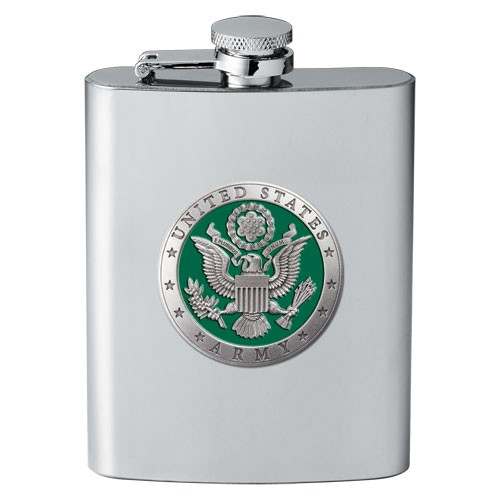 Army Flask - Enameled
