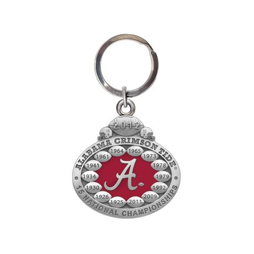 2012 BCS National Champions Alabama Crimson Tide Key Chain - Enameled