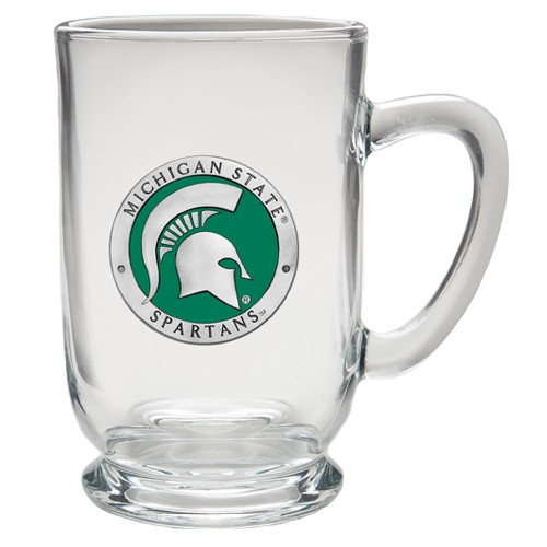 Michigan State University Clear Coffee Cup - Enameled