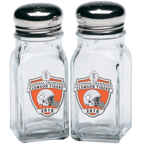 2016 CFP National Champions Clemson Tigers Salt and Pepper Shaker Set - Enameled