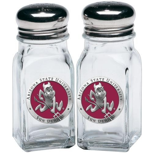 "ASU ""Sparky"" Salt & Pepper Shaker Set - Enameled"