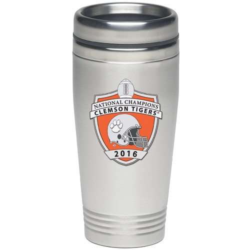 2016 CFP National Champions Clemson Tigers Thermal Travel Drink - Enameled