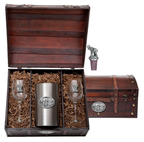 Elephant Wine Set w/ Chest