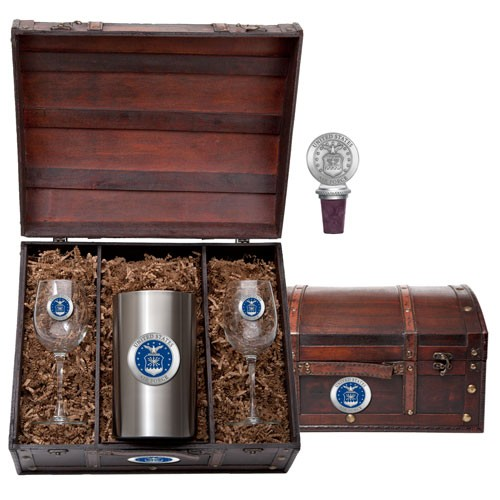 Air Force Wine Set w/ Chest - Enameled
