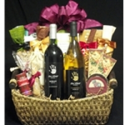 $100 Wine Gift Basket - White & Red Wine