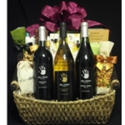 $100 Wine Gift Basket - Three Bottles