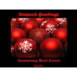 Red Christmas Balls - Black