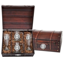 University of Illinois Beer Set w/ Chest