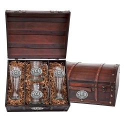 Texas Christian University Beer Set w/ Chest