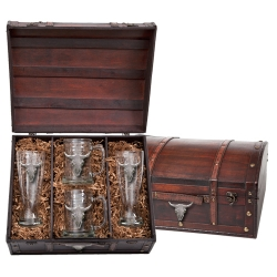 Longhorn Beer Set w/ Chest