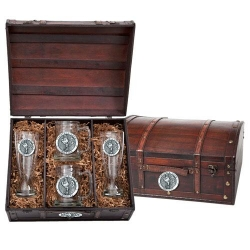 "Virginia Tech University ""Hokies"" Beer Set w/ Chest"