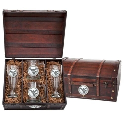 West Virginia University Beer Set w/ Chest
