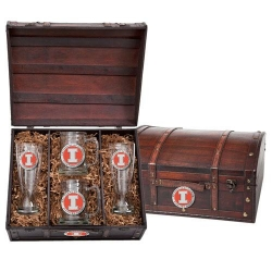 University of Illinois Beer Set w/ Chest - Enameled
