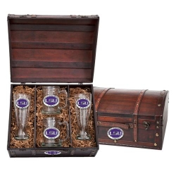 Louisiana State University Beer Set w/ Chest - Enameled