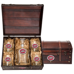 University of Arkansas Beer Set w/ Chest - Enameled