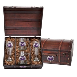 Texas Christian University Beer Set w/ Chest - Enameled