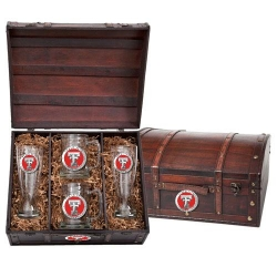 Texas Tech University Beer Set w/ Chest - Enameled
