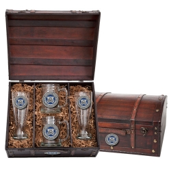 Coast Guard Beer Set w/ Chest - Enameled