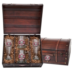 Firefighter Beer Set w/ Chest - Enameled