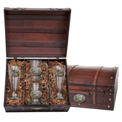 Ruffed Grouse Beer Set w/ Chest - Enameled