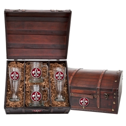 Fleur de Lis #2 Beer Set w/ Chest - Enameled