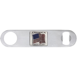 US Flag Bottle Opener - Enameled