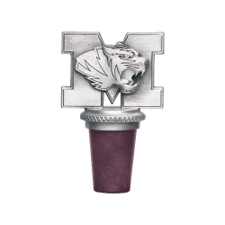 "University of Missouri ""Tigers"" Pewter Bottle Stopper"