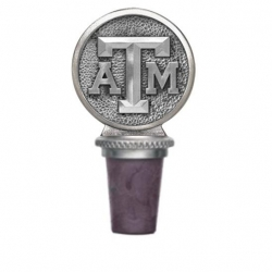 "Texas A&M University ""Aggies"" Pewter Bottle Stopper"