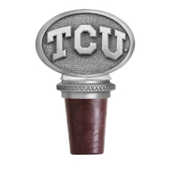 "Texas Christian University ""Horned Frogs"" Pewter Bottle Stopper"