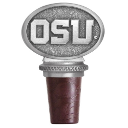 "Oregon State University ""Beavers"" Pewter Bottle Stopper"