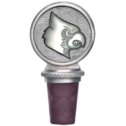 "University of Louisville ""Cardinals"" Pewter Bottle Stopper"