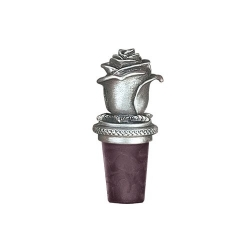 Rose Pewter Bottle Stopper