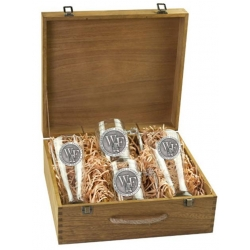 "Wake Forest University ""WF"" Beer Set w/ Box"