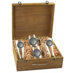 Masonic Square & Compass Beer Set w/ Box