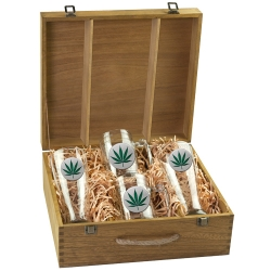 Marijuana Beer Set w/ Box - Enameled
