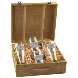 Texas Longhorn Bull Beer Set w/ Box