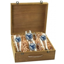West Virginia University Beer Set w/ Box - Enameled